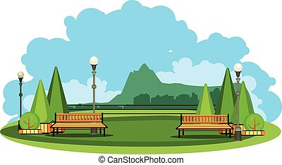 Mountain landscape vector - vector illustration horizontal...