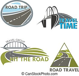 Road travel time vector icons