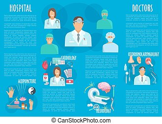 Medical or hospital healthcare vector infographics -...