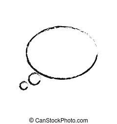 skecth bubble speech oval shape vector illustration eps 10