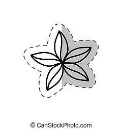 flower natural ornate cut line vector illustraiton eps 10