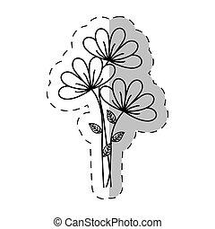 bouquet flower ornament cut line vector illustraiton eps 10