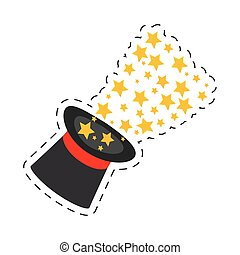 magician hat magical glow design vector illustration eps 10