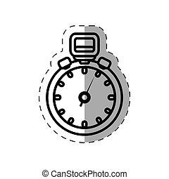 chronometer watch sport cut line vector illustration eps 10
