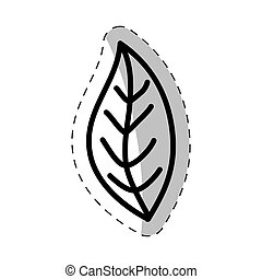 leaf plant flora cut line vector illustraiton eps 10