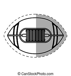 ball american football cut line vector illustration eps 10