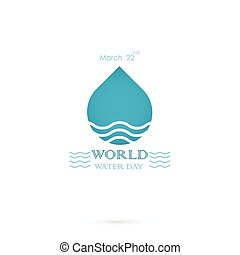 Water drop with water waves icon vector logo design...