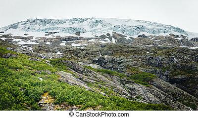 Boyabreen Glacier in Norway - Boyabreen Glacier in Fjaerland...