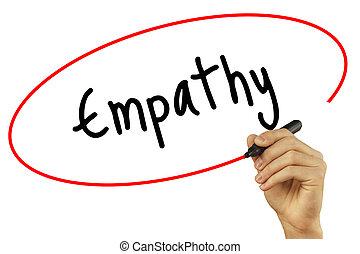 homem, empatia, tecnologia, foto, conceito, isolado,...