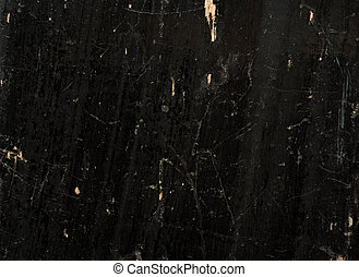 Texture of old wooden planks, painted black, lacquered, and...