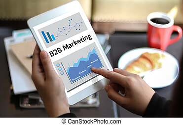 B2B Marketing Company , businessman and businesswoman Marketing Business To Business