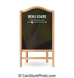 Menu Black Board Vector. Empty Chalkboard Blank Illustration