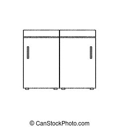 sketch furniture interior kitchen