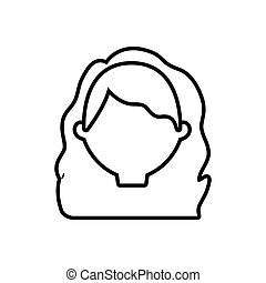 head female woman thin line vector illustration eps 10