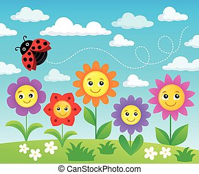 Happy flowers topic image 2