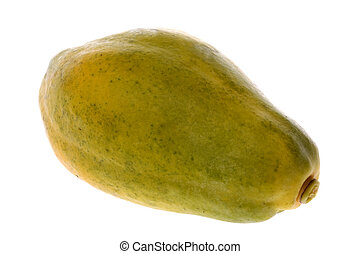 Papaya Isolated - Isolated image of a Malaysian papaya
