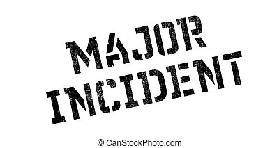 Major Incident rubber stamp. Grunge design with dust...