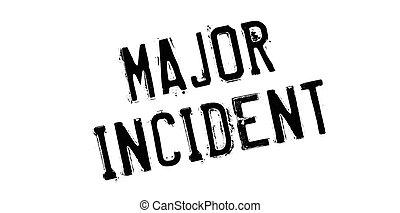 Major Incident rubber stamp. Grunge design with dust...