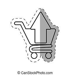 shopping cart application cut line - shopping cart...