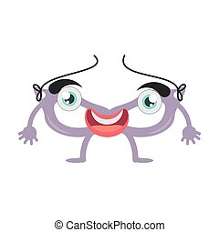 cartoon mask face decoration party vector illustration eps...