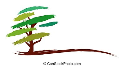 Logo green tree.