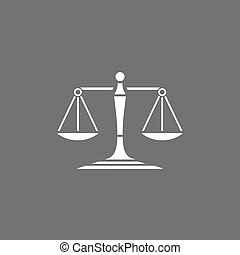 Scales of justice icon on a dark background