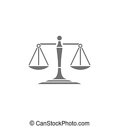 Scales of justice icon on a white background
