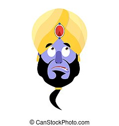 Genie Surprised Emoji. Magic ghost astonished emotion....