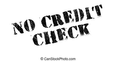 No Credit Check rubber stamp. Grunge design with dust...