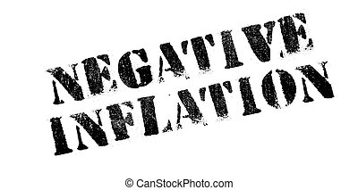 Negative Inflation rubber stamp