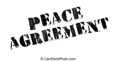 Peace Agreement rubber stamp. Grunge design with dust...