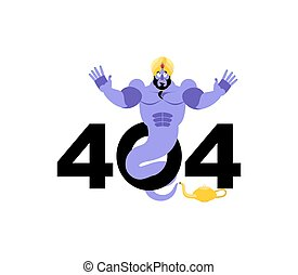 Error 404. Genie surprise. Page not found template for web...