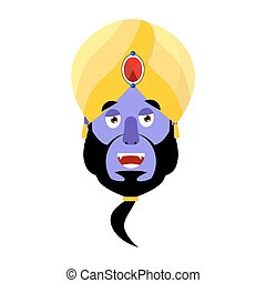 Genie happy Emoji. Magic ghost laughs emotion. Arabic magic...