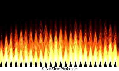 Flame pulse wave
