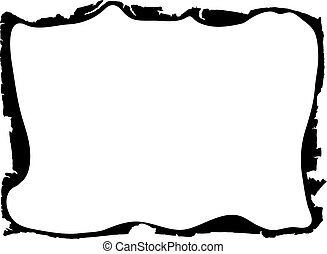 frame - ragged edges - vector - Image of the grunge frame...