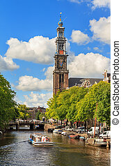 Summer tour canal Amsterdam - Canalboat tour at the UNESCO...