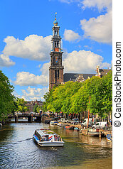 Western church canal tour - Canalboat tour at the UNESCO...