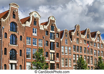Canal houses - Beautiful view of the canal houses at the...