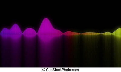 Colorful sound waves. background for audio concepts -...