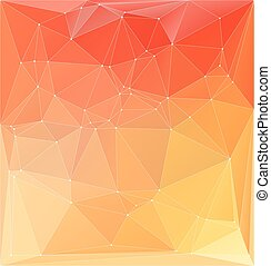 Vector illustration. Abstract orange yellow colorful polygonal backdrop.