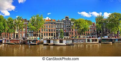 Amsterdam summer panorama