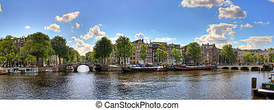 Amstel panorama - Beautiful panoramic panorama of the river...
