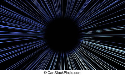 Abstract background with futuristic lines tunnel. Seamless...