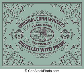 Old  label design. Western style