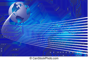 global communication - vector - Abstract image - technology...