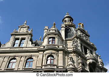 Antwerp - Old landmark next to famous Meir street in...