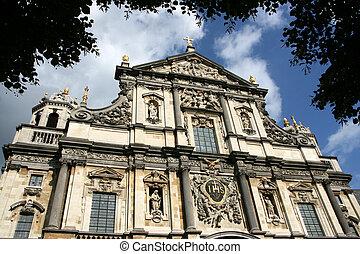 Antwerp - Carolus Borromeus Church in Antwerp, Belgium....