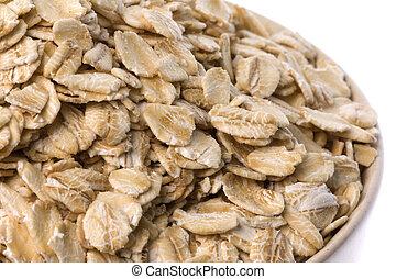 Oats Macro Isolated - Isolated macro image of oats.