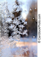 ice on window