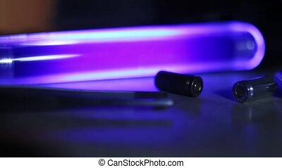 CSI background bullets and UV lamp 1